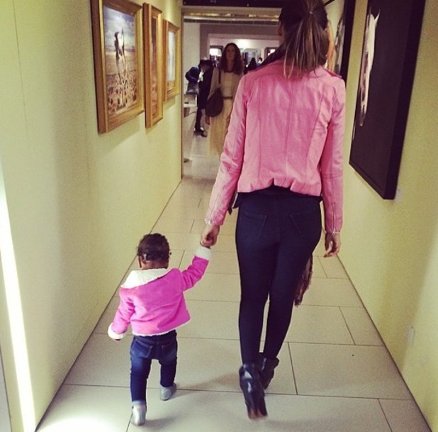 Rochelle Humes and daughter Alaia-Mai 25 August