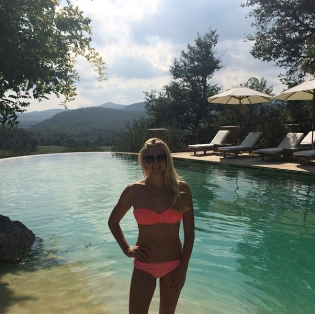 Rebecca Adlington poses in a bikini on honeymoon with husband Harry Needs in Italy - 8 Sep 2014
