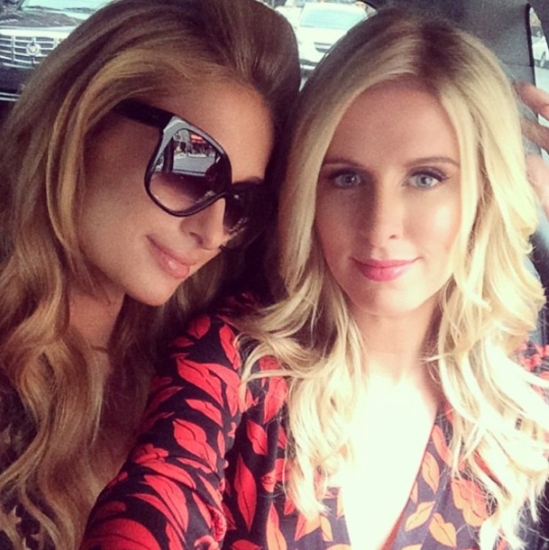Paris Hilton and Nicky Hilton make their way to a book signing at Barnes & Noble in New York, America - 9 September 2014