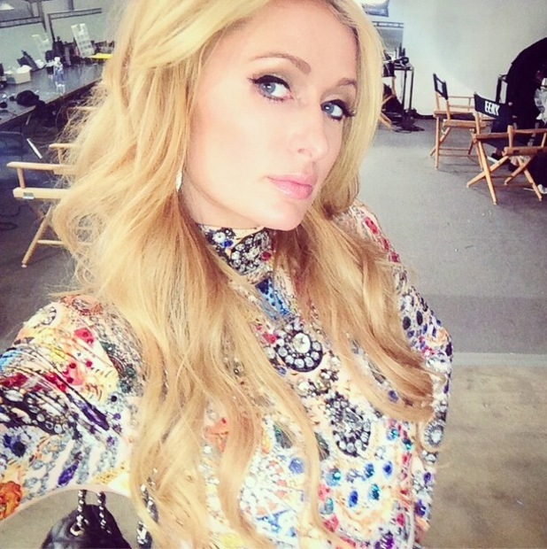 Paris Hilton takes a selfie before attending The Blonds' spring/summer '15 catwalk show at New York Fashion Week - America - 10 September 2014