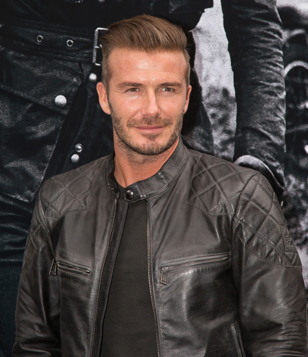 David Beckham is seen making an appearance at Belstaff store on Madison Avenue on September 9, 2014 in New York City. (Photo by Alessio Botticelli/FilmMagic).