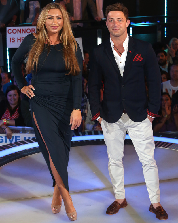 Lauren Goodger, Ricci Guarnaccio: Celebrity Big Brother eviction. 10 sEP 2014