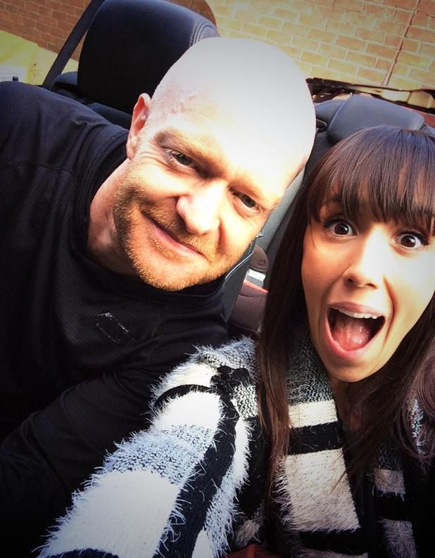 EastEnders actor Jake Wood poses with Janette Manrara after Strictly Come Dancing rehearsals - 9 September.