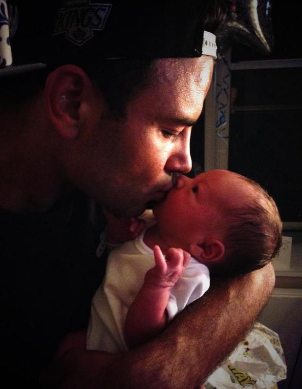 Coronation Street actor Ryan Thomas shares first photo of his baby nephew Teddy - 8 September 2014.