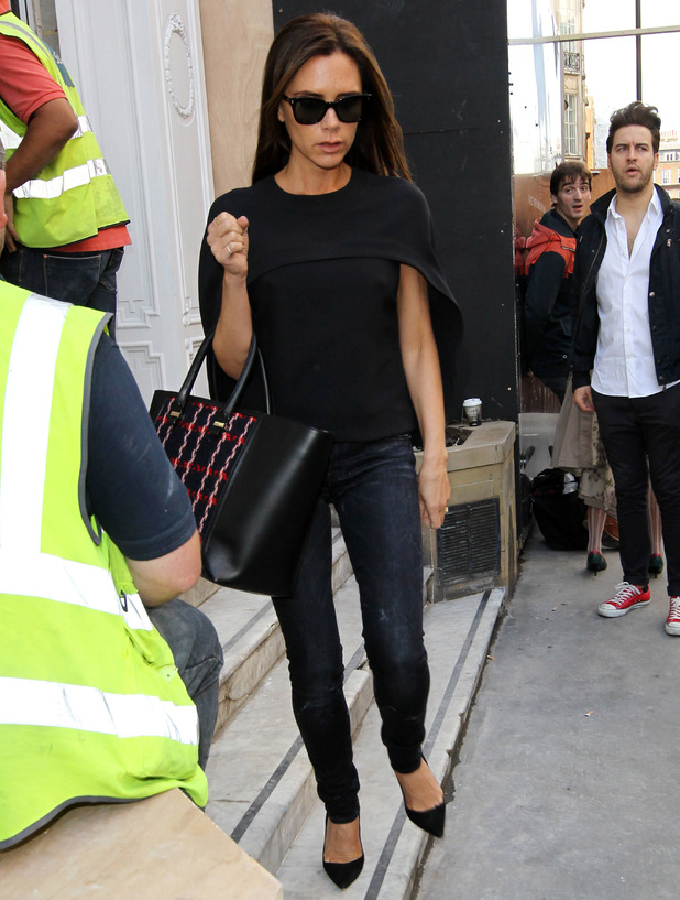 Victoria beckham leaving her shop in Mayfair 12 Sep 2014