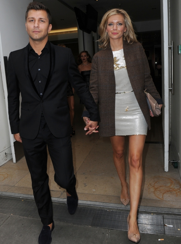 Rachel Riley and Pasha Kovalev attend Julien Macdonald at LFW, 13.9.14