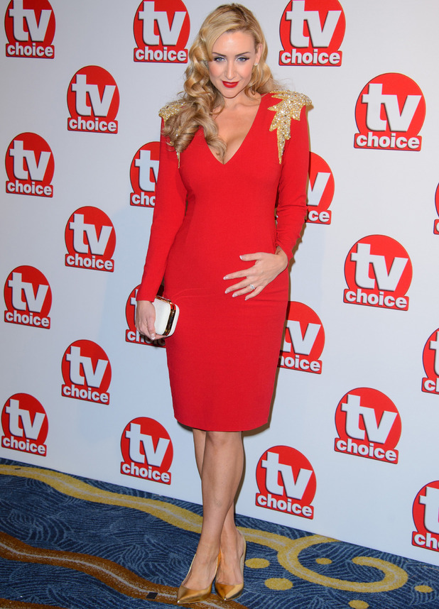 Catherine Tyldesley shows off bump at TV Choice Awards - 8 September 2014