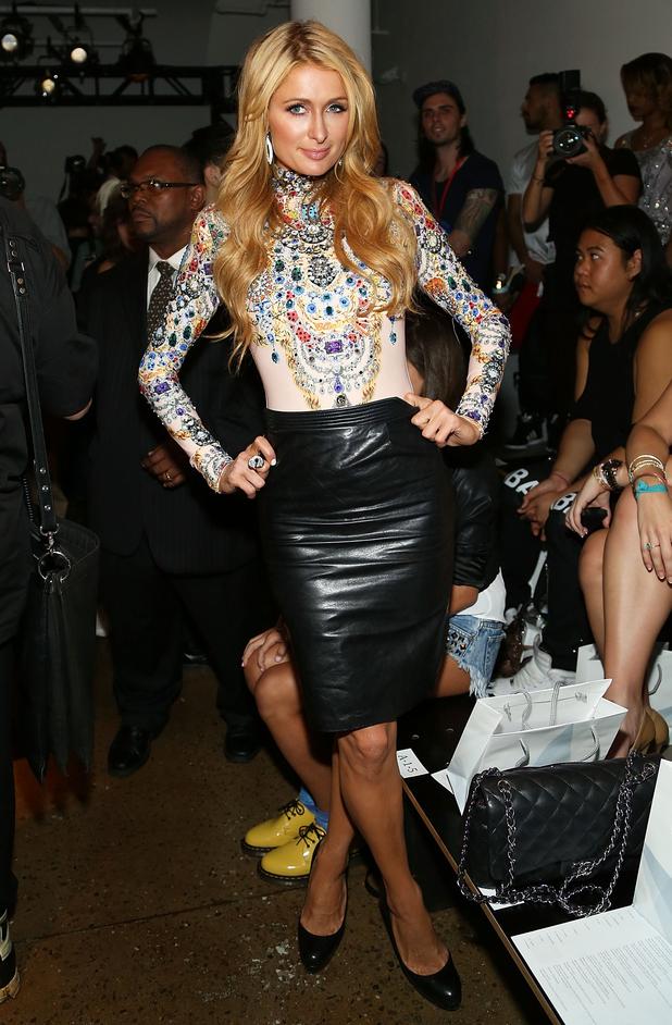 Paris Hilton attends The Blonds' spring/summer '15 catwalk show at New York Fashion Week - America - 10 September 2014