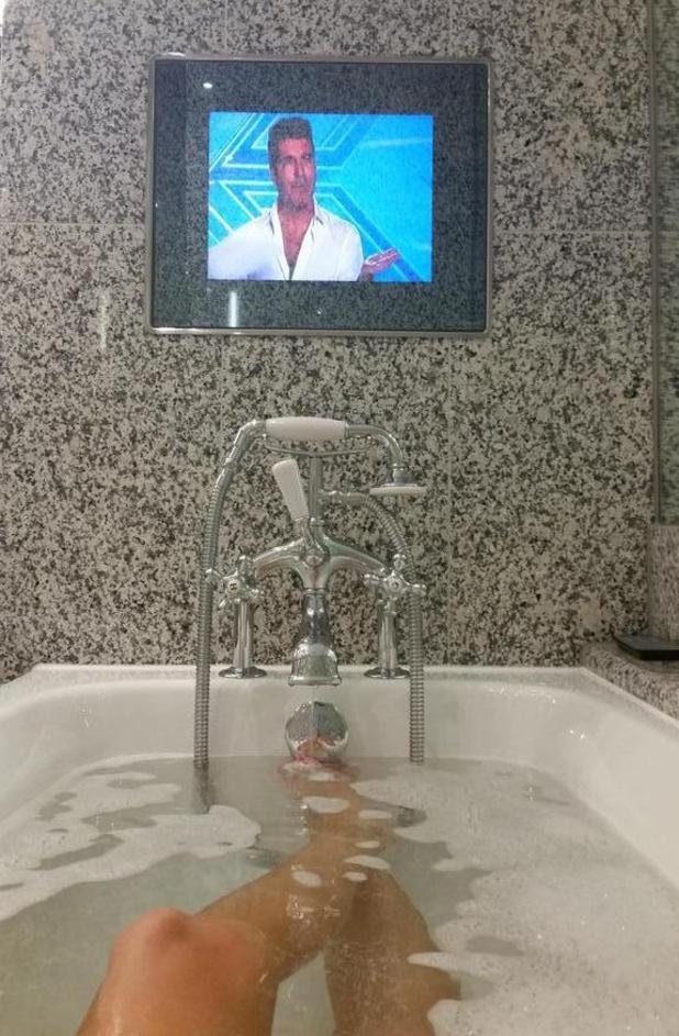 Stephanie Pratt enjoys a bath soak after Celebrity Big Brother exit (7 September).