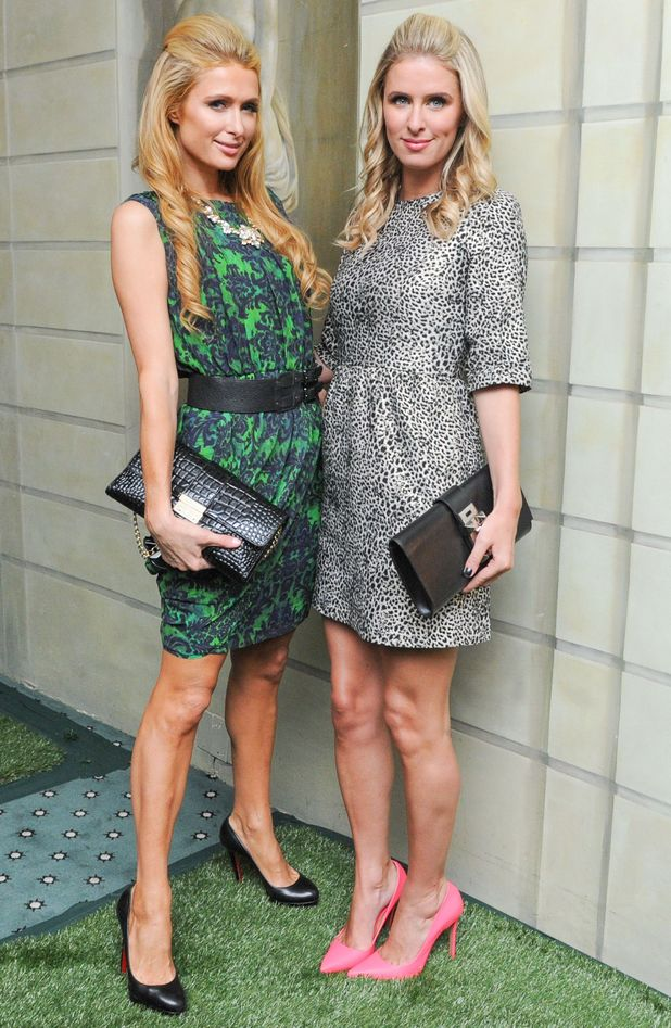 Paris Hilton and Nicky Hilton attend the Alice & Olivia By Stacey Bendet spring/summer '15 show at New York Fashion Week - America - 8 September 2014