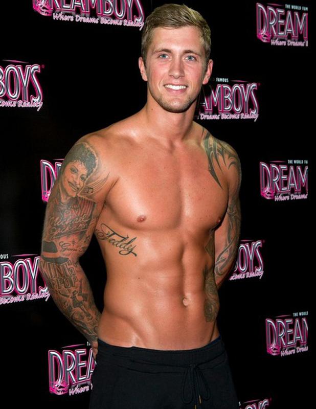 Dan Osborne after his The Dreamboys stripper debut, 9 September 2014