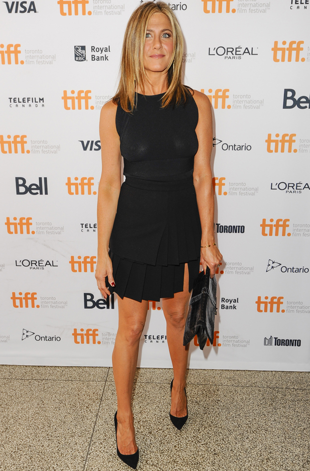 Jennifer Aniston attend the 'Cake' premiere, September 8, 2014 in Toronto, Canada.