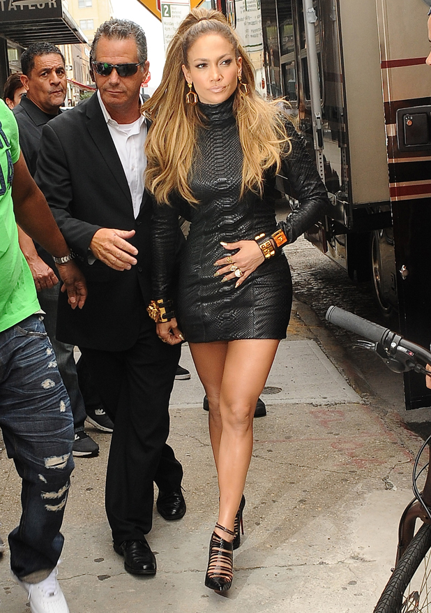 Jennifer Lopez is seen in the Meat Packing District on September 8, 2014 in New York City.