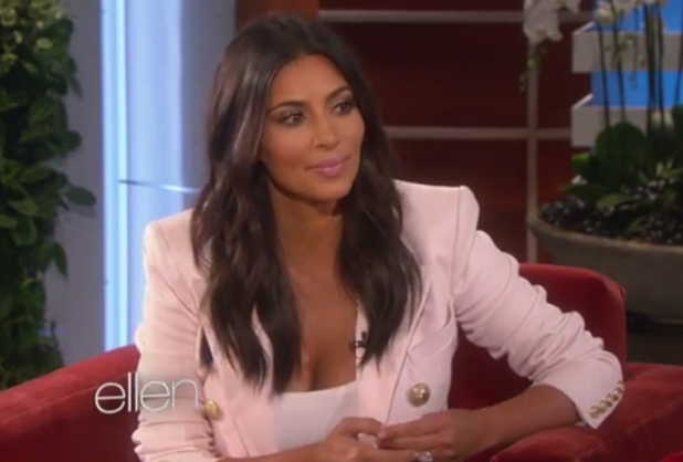 Kim Kardashian West appears on Ellen DeGeneres Show, September 2014