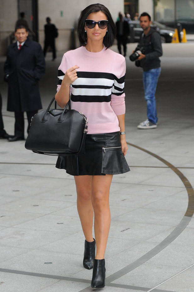 Lucy Mecklenburgh at the BBC Radio 1 studios, 11 September 2014