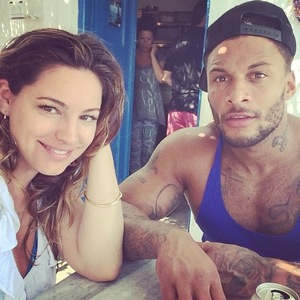 Kelly Brook and David McIntosh have lunch on holiday, Mykonos, Greece 17 September