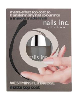 Nails Inc. Westminster Bridge Matte Top Coat Nail Polish, £12