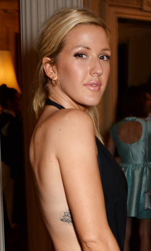 Ellie Goulding attends as Ambassador Barzun, Mrs Brooke Barzun and Alexandra Shulman celebrate London Fashion Week at Winfield House in association with J Crew and Vogue on September 16, 2014 in London, England.