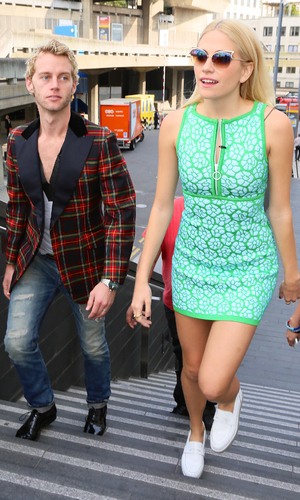 Pixie Lott and Trent Whiddon at ISSA show, 15/9/14