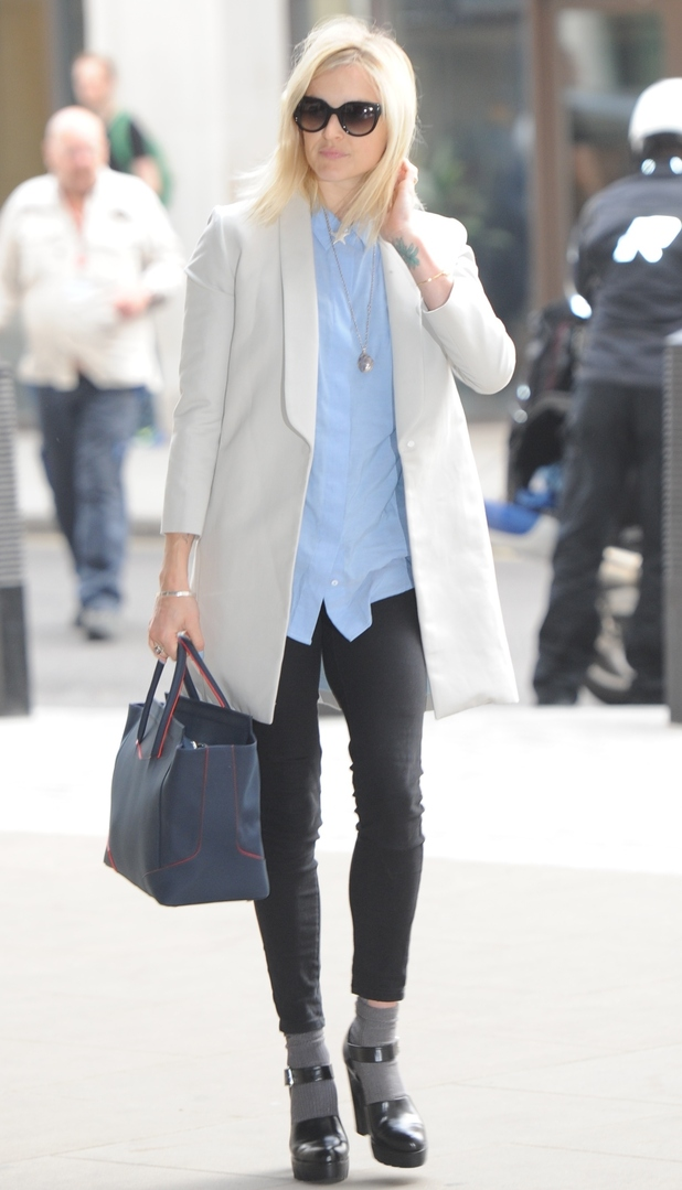 Fearne Cotton heads to the Radio 1 studios in London, England - 16 September 2014