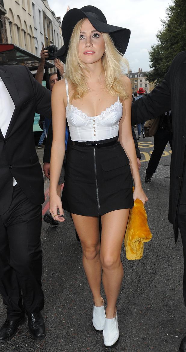 Pixie Lott attends Topshop Unique Fashion Show for LFW, London 14 September
