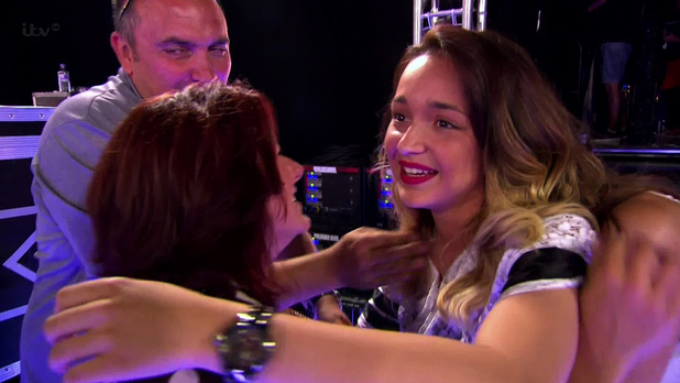 Lauren Platt performs 'How will I Know' at Wembley Arena, she received four yes's from the judges and a standing ovation from the audience putting her through to Boot Camp on ' The X Factor'.