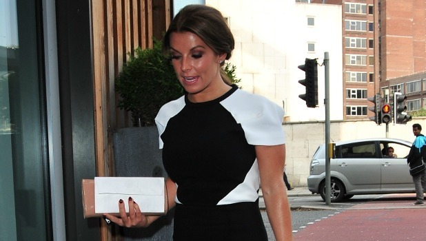 Coleen Rooney arrives for a charity lunch in aid of Christie hospital and Key 103 cash for kids, 18 September 2014