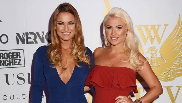 Billie and Sam Faiers attend The Wright Venue's 5th Birthday in Dublin, 20 September 2014