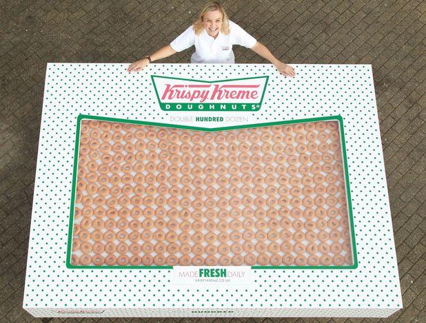 UK's biggest box of Krispy Kremes