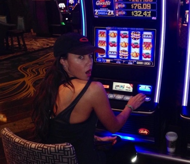 Michelle Heaton beats jet lag with gambling, Las Vegas 17 September