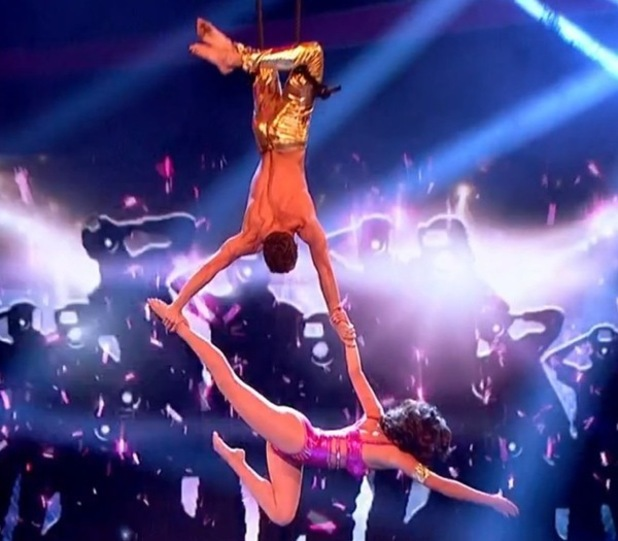 Lucy Mecklenburgh and Billy George, Tumble final, BBC One 13 September