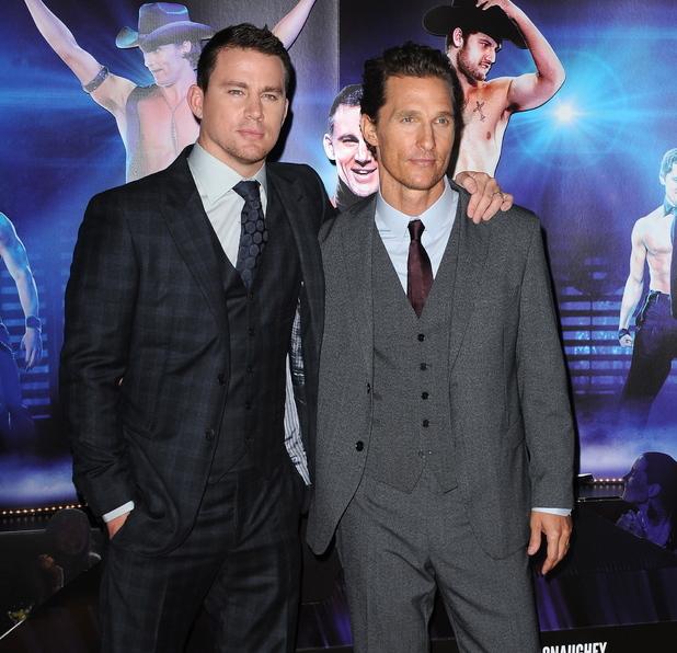 Channing Tatum and Matthew McConaughey Magic Mike UK film premiere, Mayfair Hotel, London 2012