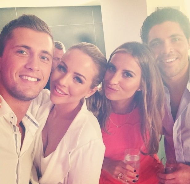 TOWIE's Dan Osborne, Ferne McCann, Lydia Bright and Tom Pearce at ITV Upfronts party - 18 September.