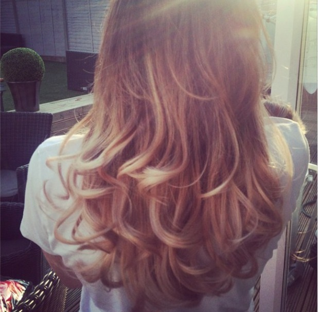 Jess Wright gets hair extensions again, 18 September 2014