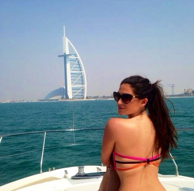 Casey Batchelor shares holiday photo of herself in Dubai 19 September