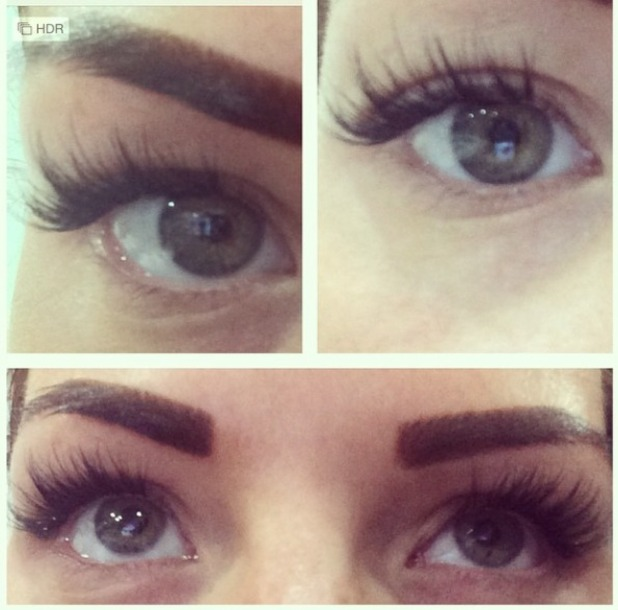 Jess Wright shows off her new eyelash extensions ahead of TOWIE filming in Ibiza, 17 September 2014