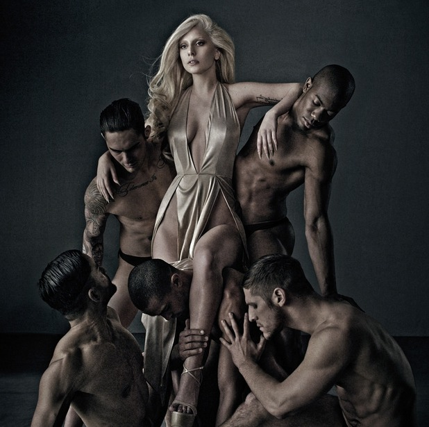 Lady Gaga poses for campaign pictures to promote her new perfume, Eau de Gaga - September 2014