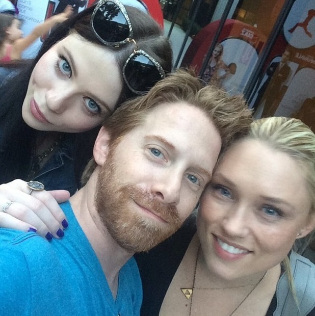 Michelle Trachtenberg and Seth Green at Charlotte Prinze's fifth birthday party, 17 September 2014