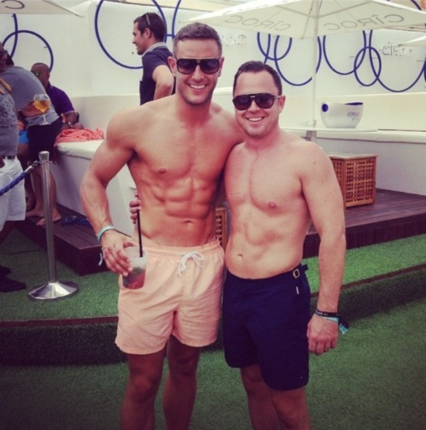 Elliott Wright on holiday for friend's stag do ahead of TOWIE Ibiza special, Ibiza 19 September
