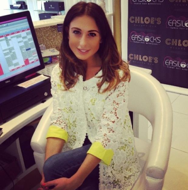 Grace Andrews working at Chloe's Beauty Bar, Essex 17 September