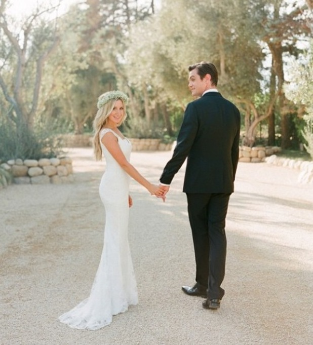 Newlywed Ashley Tisdale shares wedding photo with Christopher French - 15 September.