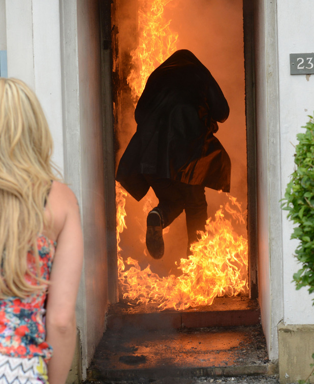 EastEnders, Alfie rushes into the explosion, Tue 16 Sep