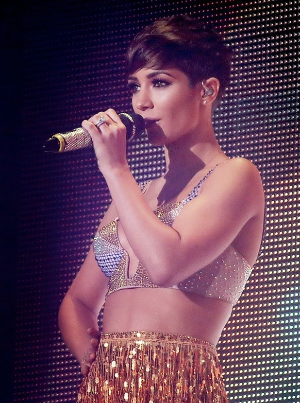 Frankie Bridge, The Saturdays performing live on stage at Manchester O2 Apollo, Manchester 14 September