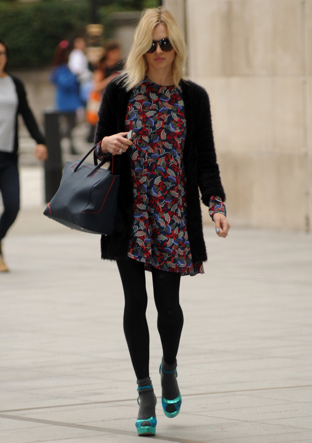 Fearne Cotton arrives at BBC Radio 1, London 17 September