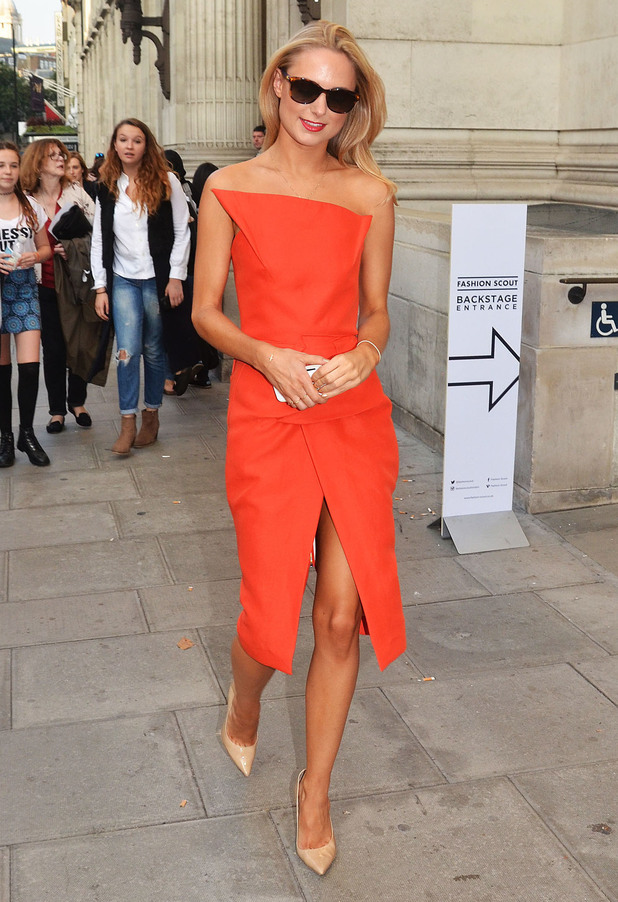Kimberley Garner attends London Fashion Week spring/summer '15 - London, England - 16 September 2014