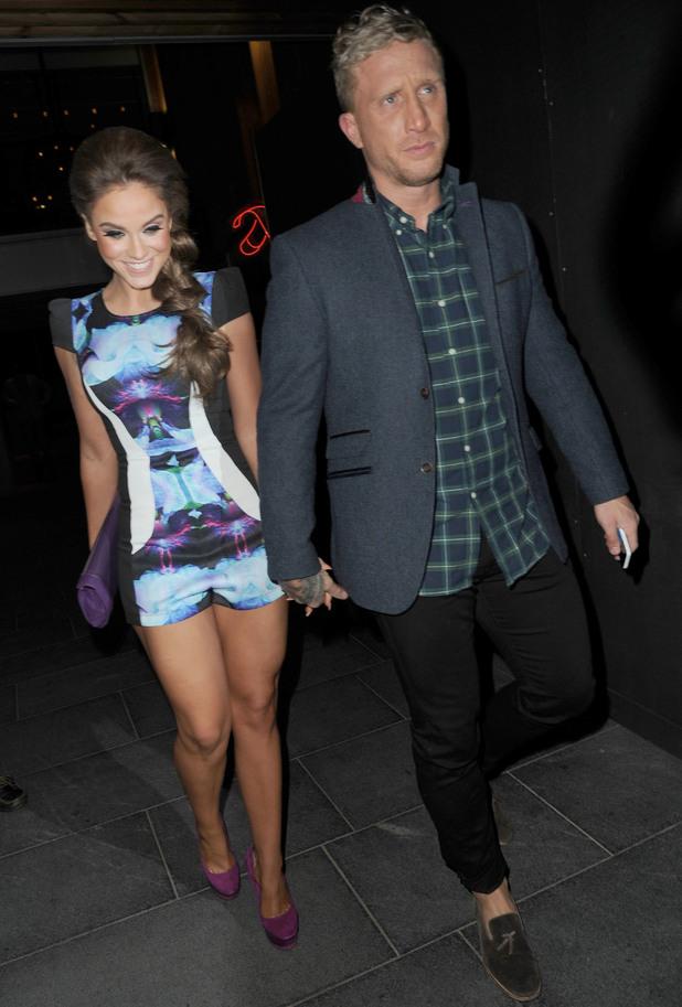 Vicky Pattison and boyfriend James Morgan at dinner, Manchester 18 September