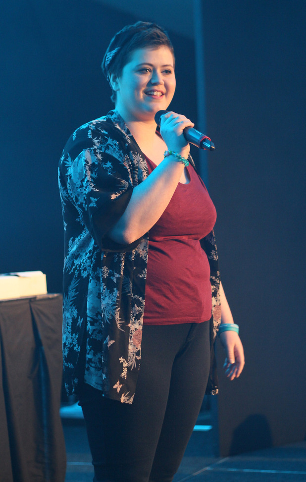 Amy Quinn singing at Teenage Cancer Trust conference
