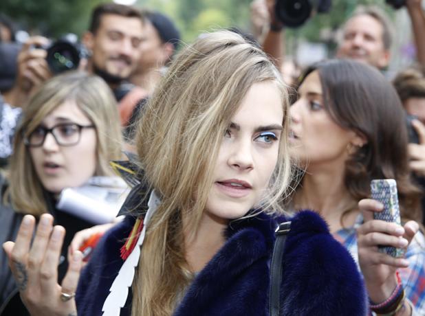 Cara Delevingne, Milan Fashion Week Spring/Summer 2015 - Fendi - Outside Arrivals, 18 September 2014