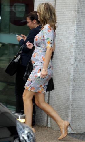 Charlotte Hawkins outside the ITV studios, 18 September 2014