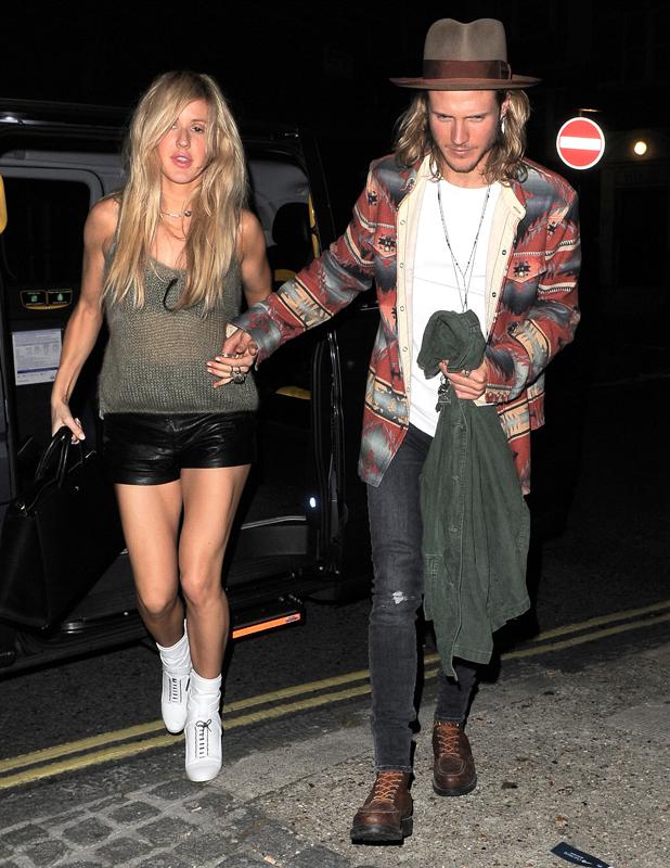 Ellie Goulding and Dougie Poynter visit Chiltern Firehouse, 14 September 2014